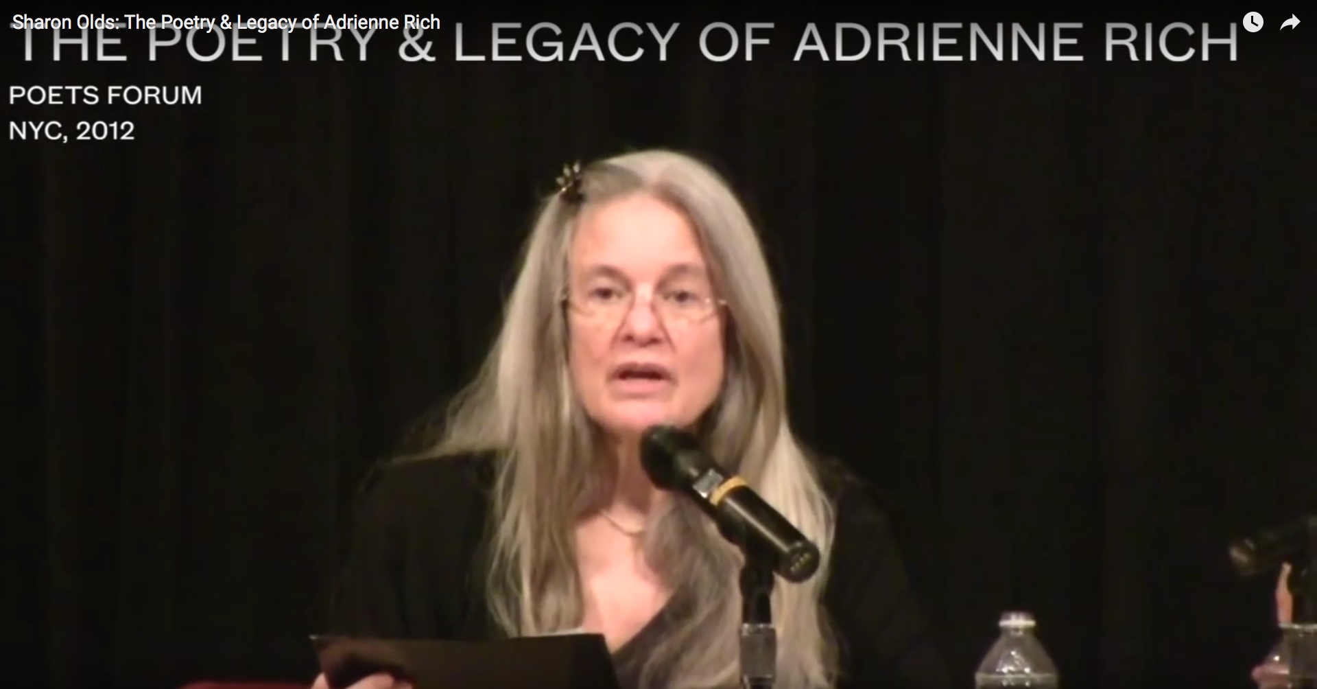 Sharon Olds on Adrienne Rich