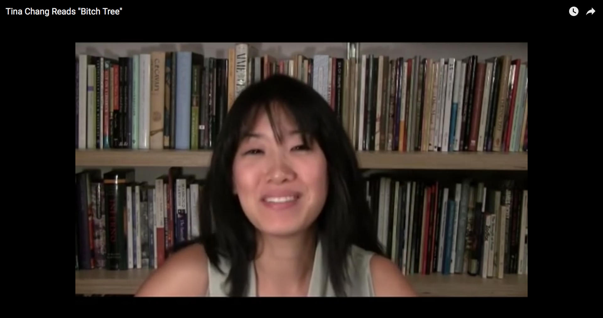 "Tina Chang reads ""Bitch Tree"""