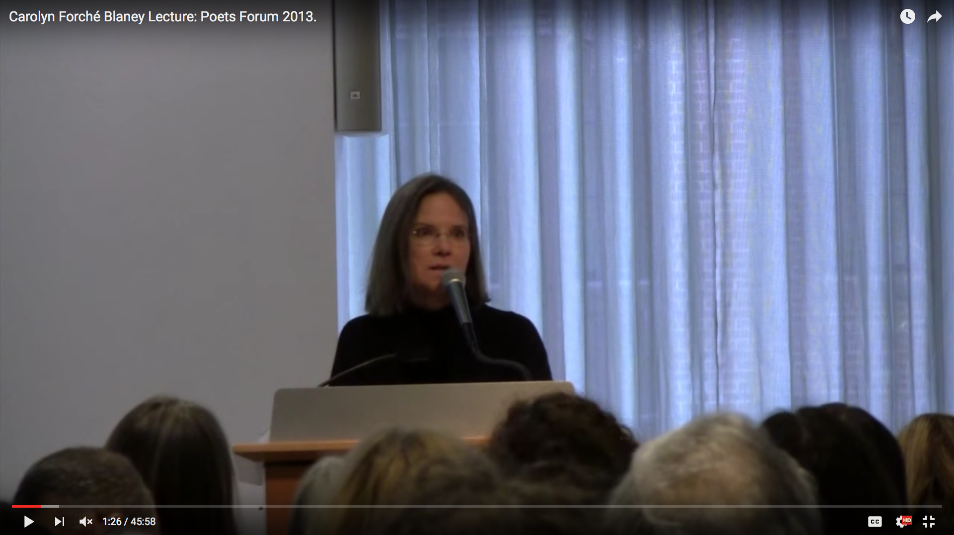 Carolyn Forché Blaney Lecture
