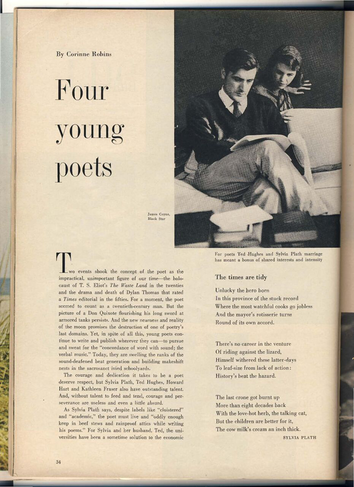 Sylvia Plath Mlle article pg. 1