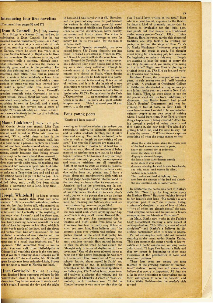 Sylvia Plath Mlle article pg. 3