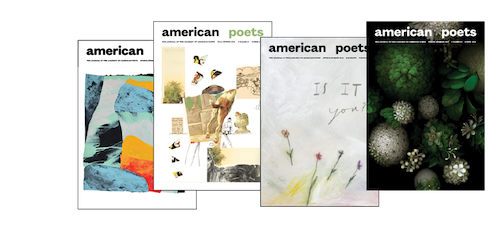 Cover images of American Poets magazine