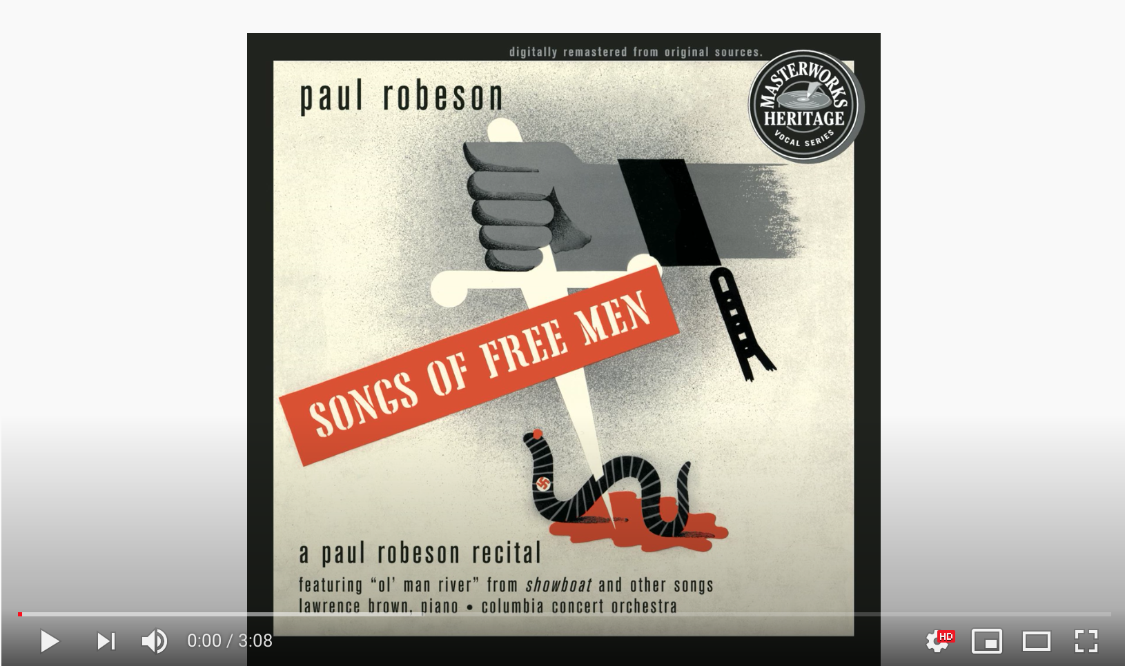 """""""The House I Live In"""" by Paul Robeson"""