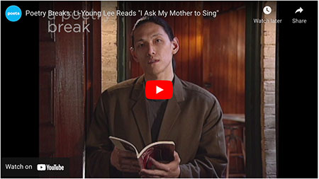 """Li-Young Lee Reads """"I Ask My Mother to Sing"""""""