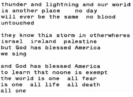 Tuesday 9/11/2001 by Lucille Clifton