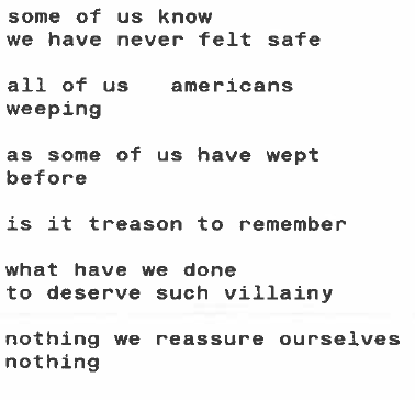 Friday 9/14/01 by Lucille Clifton
