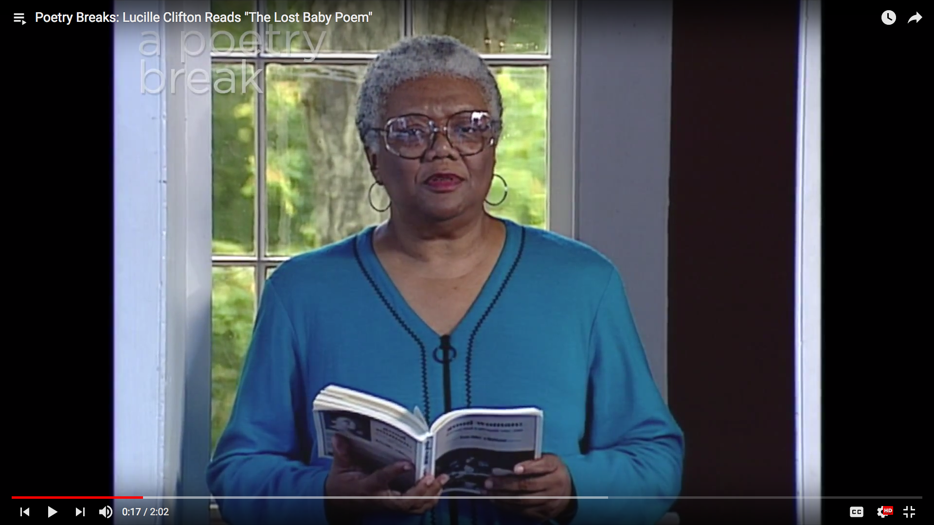 "Lucille Clifton Reads ""The Lost Baby Poem"""