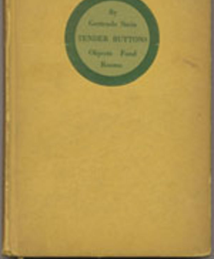 Tender Buttons by Gertrude Stein (1914)