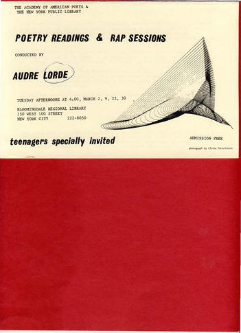 Audre Lorde Flyer